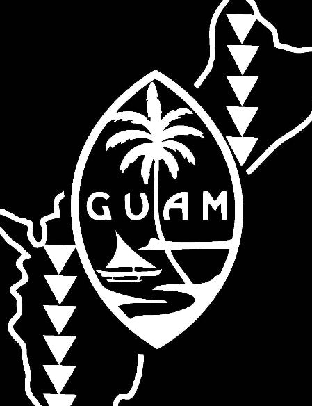 Guam Seal with Island with Triangles Decal