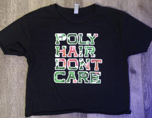 Poly Hair Don't Care Crop Shirt