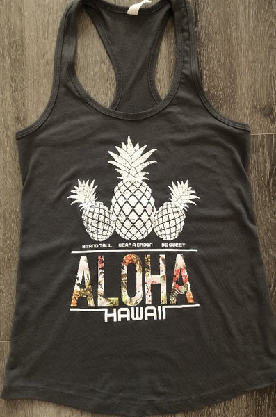 Aloha Hawaii Pineapple Ladies Tank