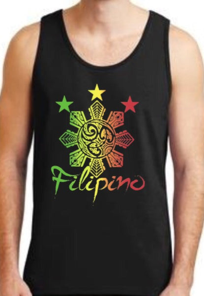 Filipino Tribal Rasta Mens Tank