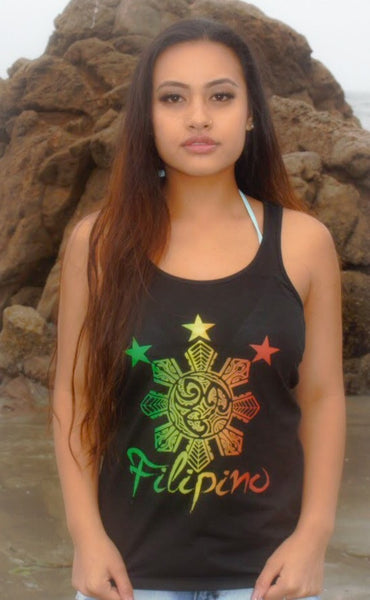 Filipino Tribal Rasta Ladies Tank