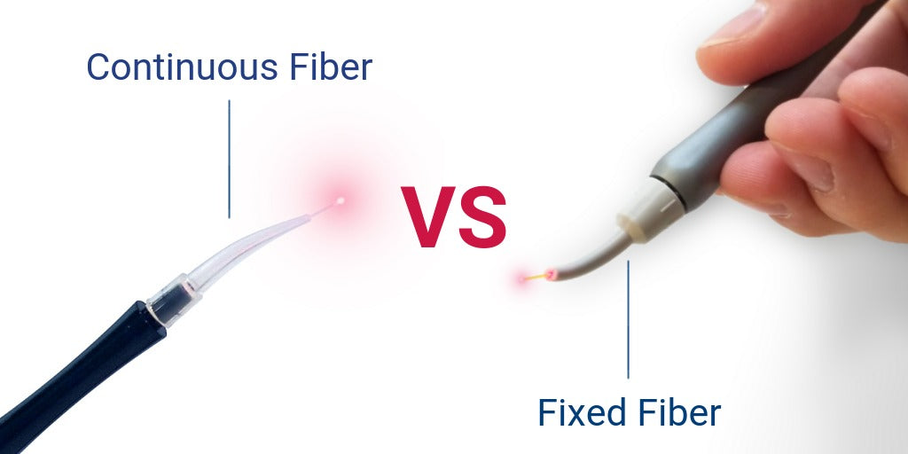 Image of Fixed Fiber tip vs disposable continuous fiber tip
