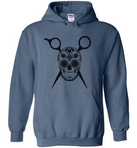 Sugar Skull and Scissors Hoodie