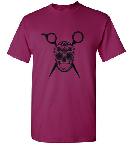 Sugar Skull and Scissors Short Sleeve