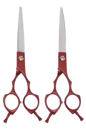 "GEORGE Red 6.5"" Straight, Curved, or Set"