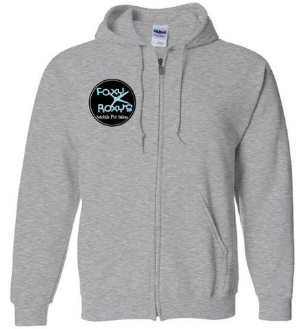 mobile pet salon zip hoodie