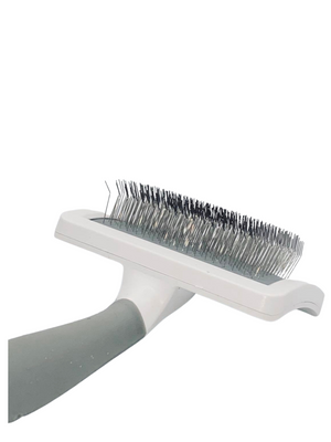 White Slicker Brush- Medium