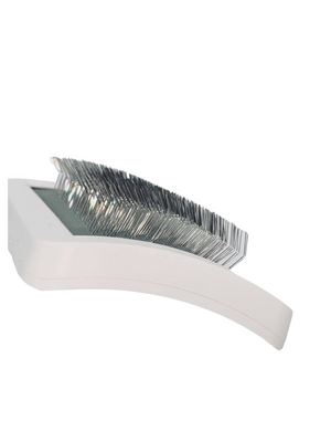 White Slicker Brush- Short