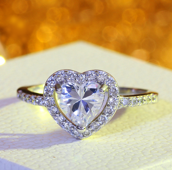 'Love-You-Forever Promise' Heart Ring