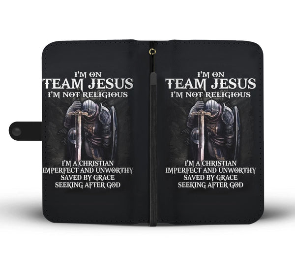 Team Jesus Wallet Phone Case
