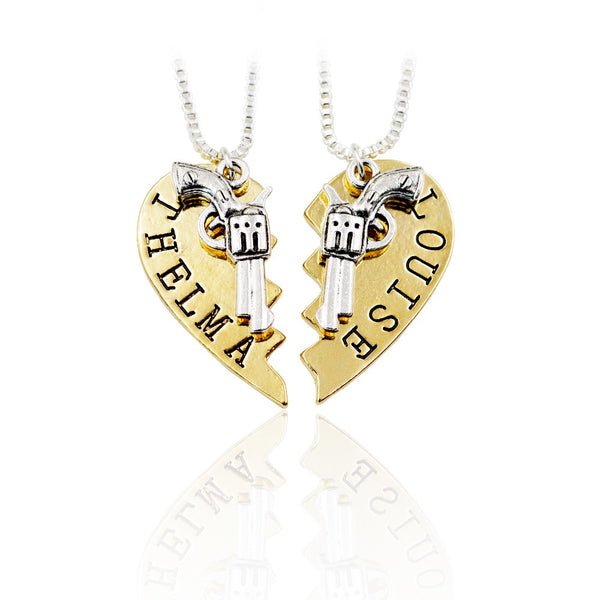 Bonnie & Clyde Partner in Crime Friendship Necklace