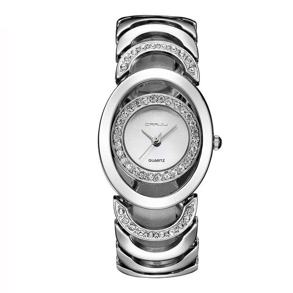 Modern Women's Gold and Crystal Watch
