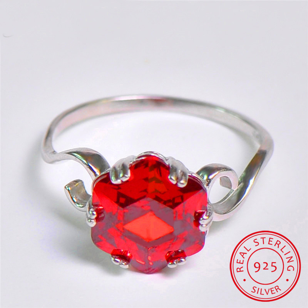 Sterling Silver July Birthstone Ring