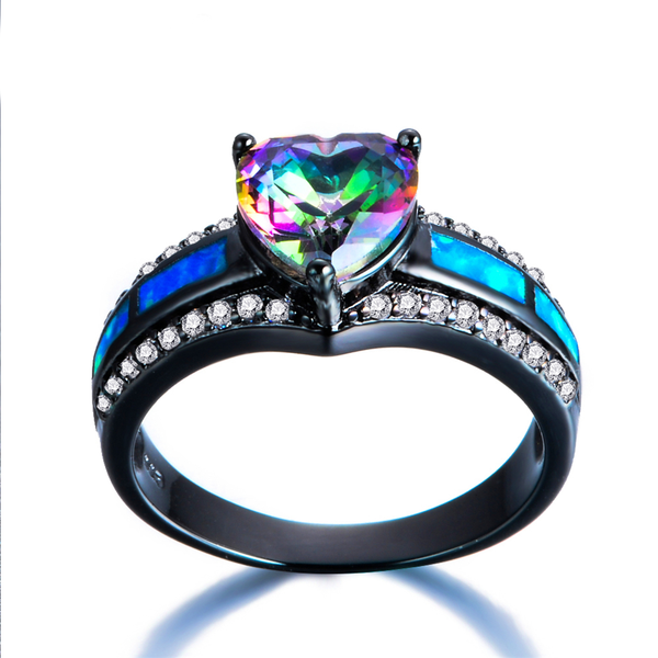 November Birthstone Mystiz Topaz Heart Ring