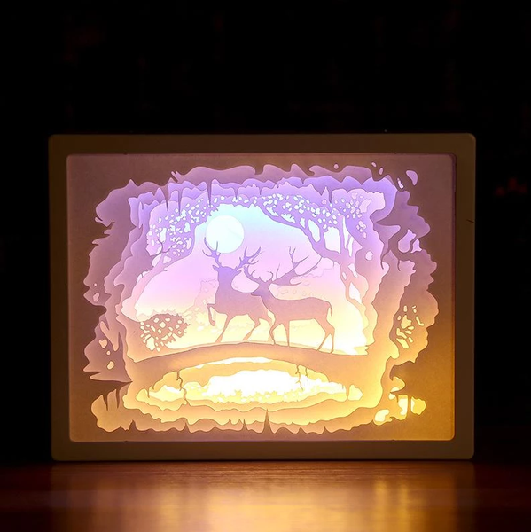 Handcrafted Creative 3D Paper Sculpture Lamp