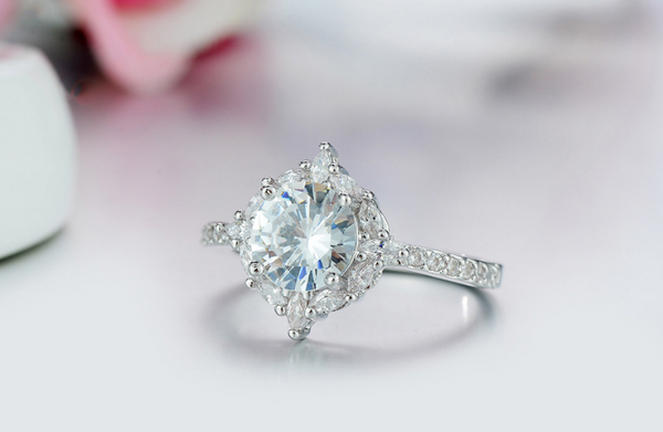 April Wedding Birthstone Ring