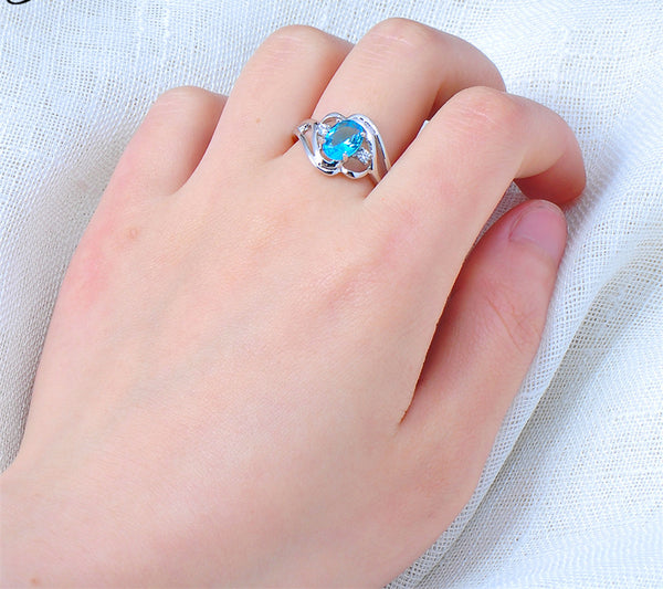 Oval December Birthstone Ring