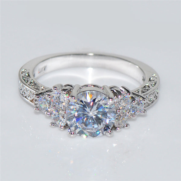 White Sapphire Gold Filled September Birthstone ring