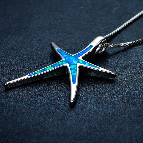 Waikiki Blue Opal Starfish Necklace