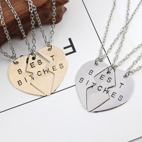 Best Bitches forever Friendship Necklace