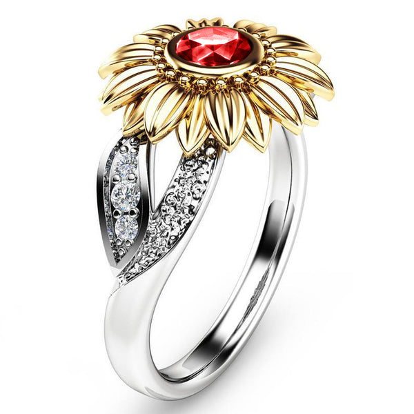 January Sunflower Ring