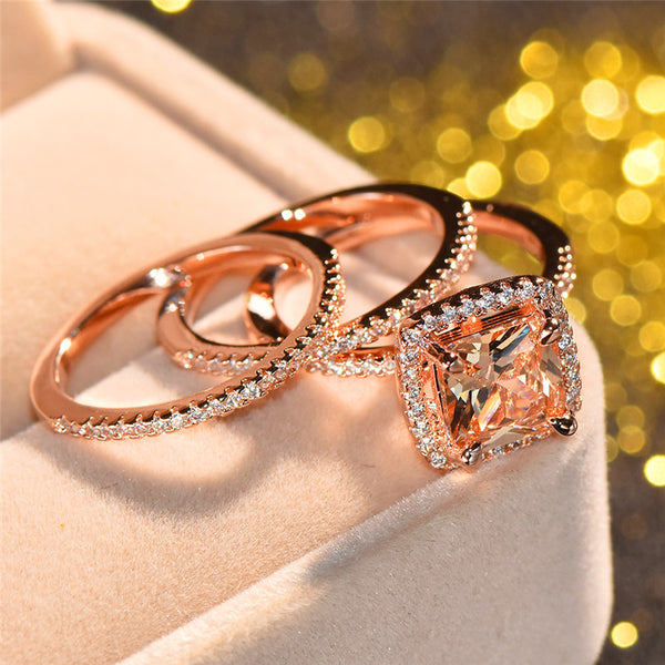 Gorgeous Triple Set November Gold Ring