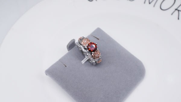 July Floral Birthstone Ring