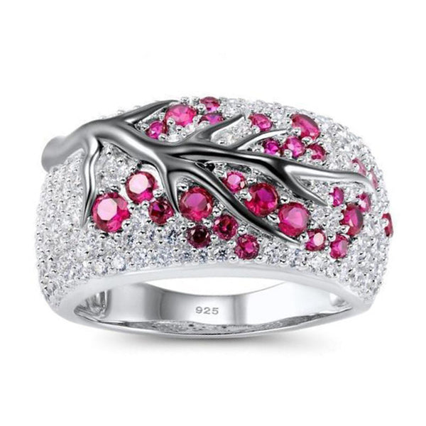 Sakura Birthstone Ring