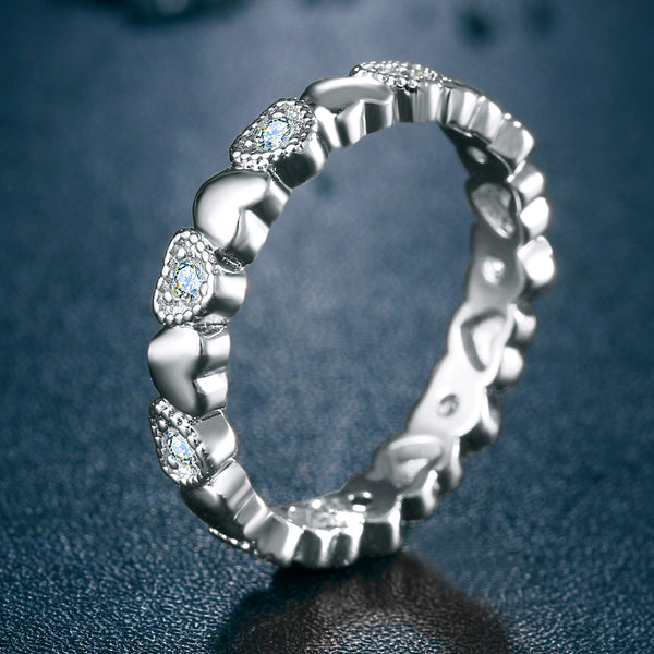 Infinity Heart Trail Ring