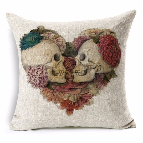 Ornate Skull Pillow