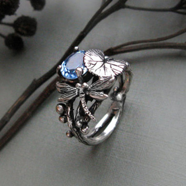 September Dragonfly Ring