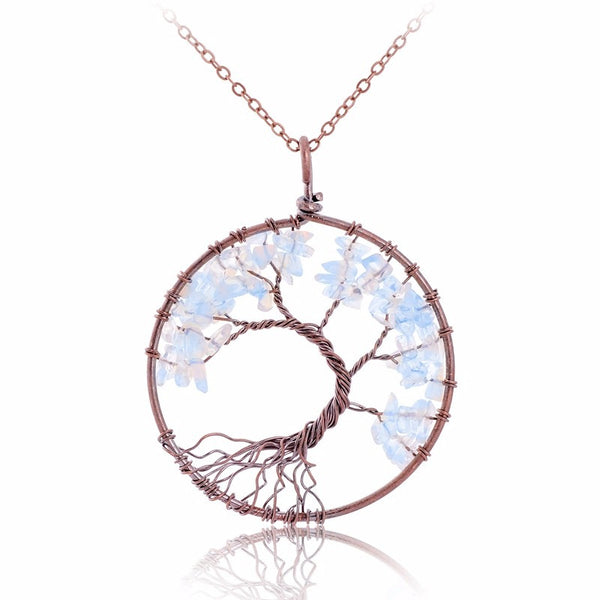Handmade April Birthstone Tree Necklace