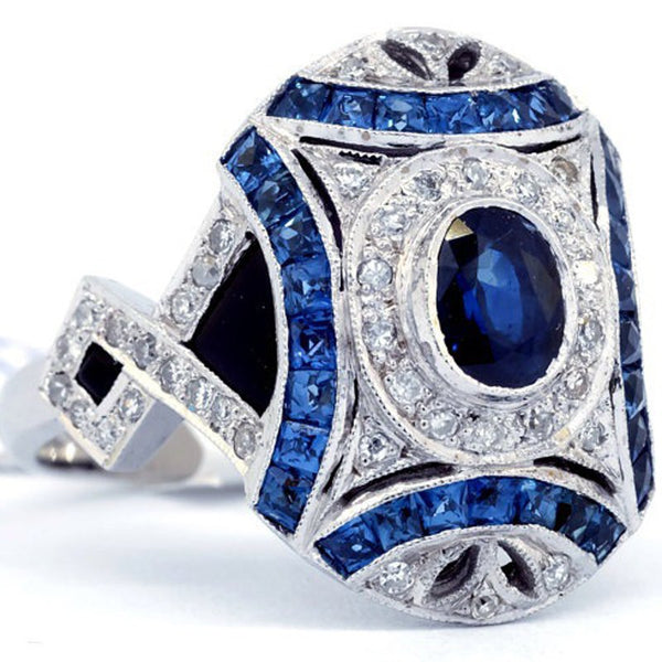 Majestic Royal Blue Shield Ring