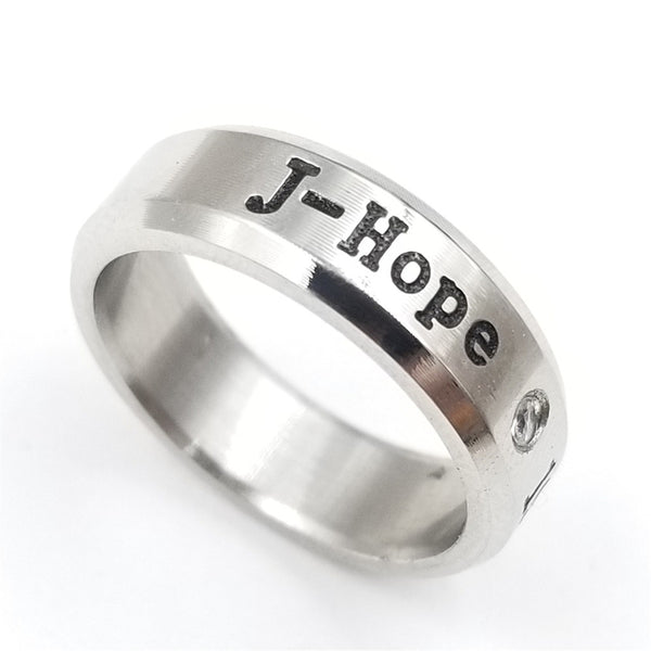 Stainless Steel BTS Rings in 8 Styles