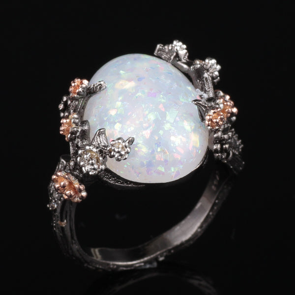 October Enchanted Tree Opal Ring