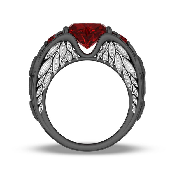 Angel-Wing Heart Series:  January Ring
