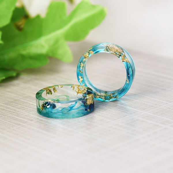 Handmade September Ocean Blue ring