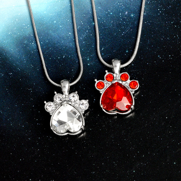 Paw Birthstone Pendants