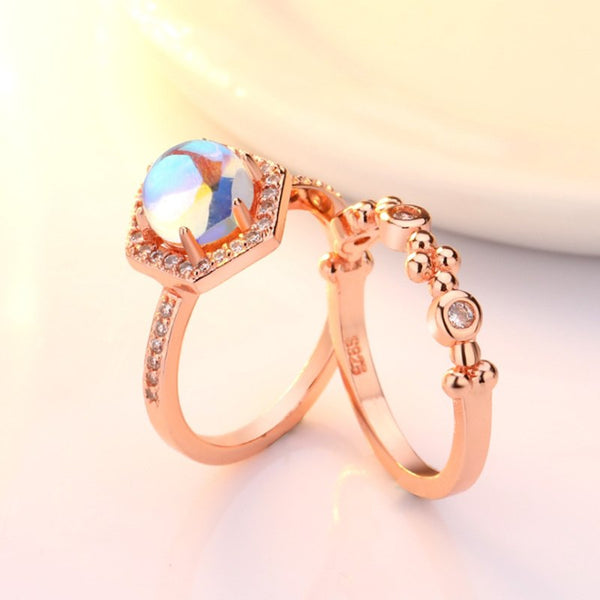 Royal Dual Set Opal Ring
