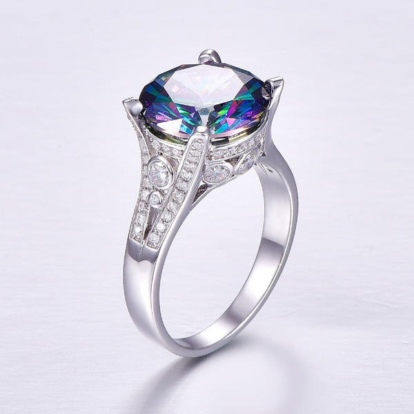 Mystic Fire Topaz November Birthstone Ring