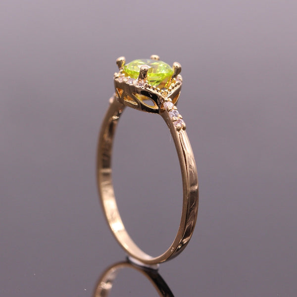 August Birthstone & Gold Ring