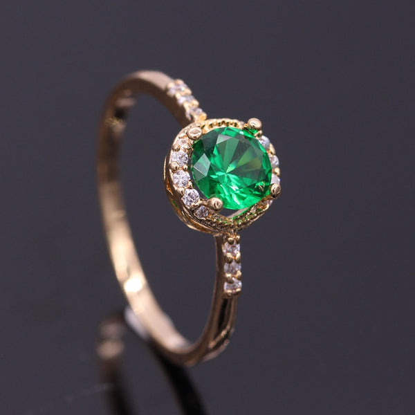 May Birthstone & Gold Ring