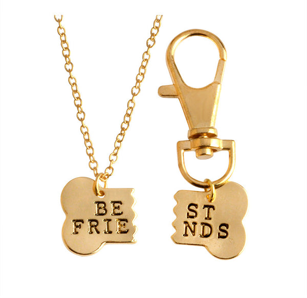 Best friends dog necklace [Gold - Silver]