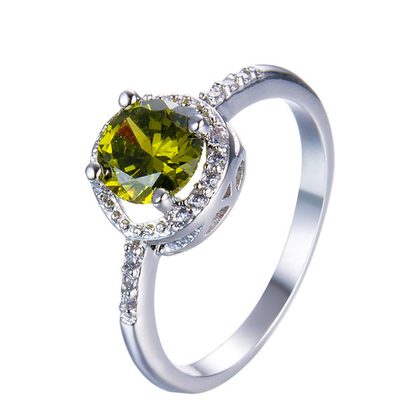 August White Gold Birthstone Ring