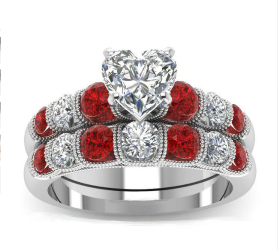 Queen Of Hearts April Ring