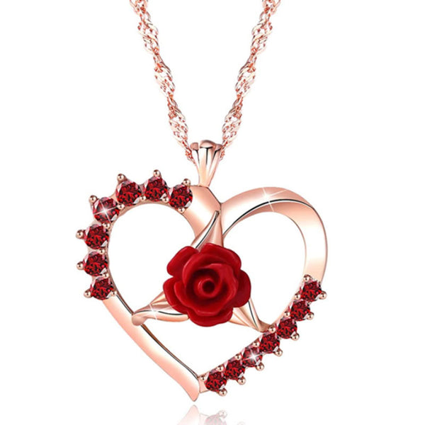 Love Forever Rose Necklace