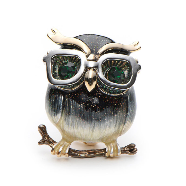 Retro Owl May Brooch