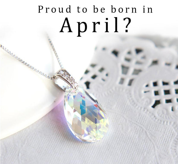 Aurore Boreale April Birthstone Necklace