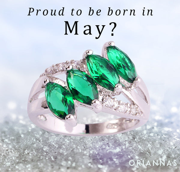 May Birthstone Ring (Emerald)