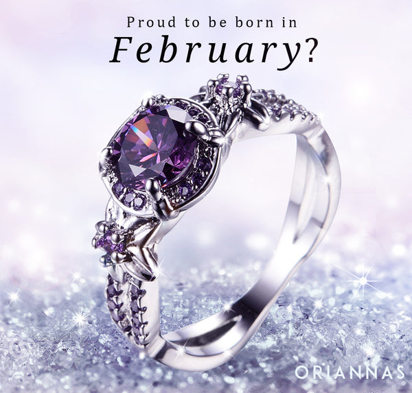 February Birthstone Gold Filled Ring